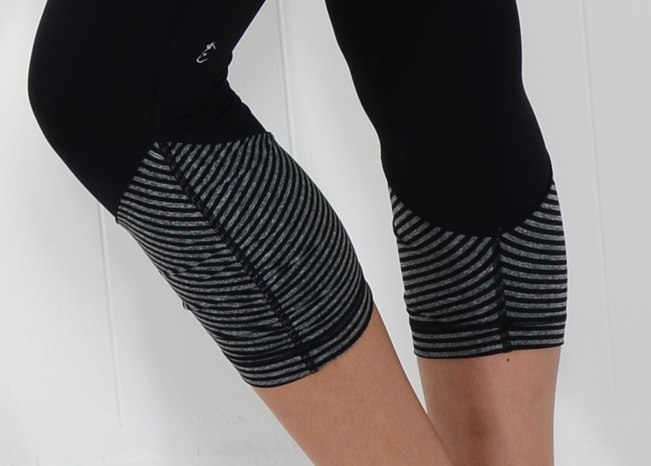 One of our sneak peeks of the new line! A little stripes/solids combo! #workout #capris #stripes #athleticwear #workoutclothes