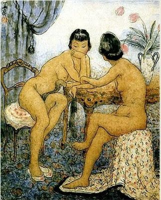 Slut nude chinese drawing