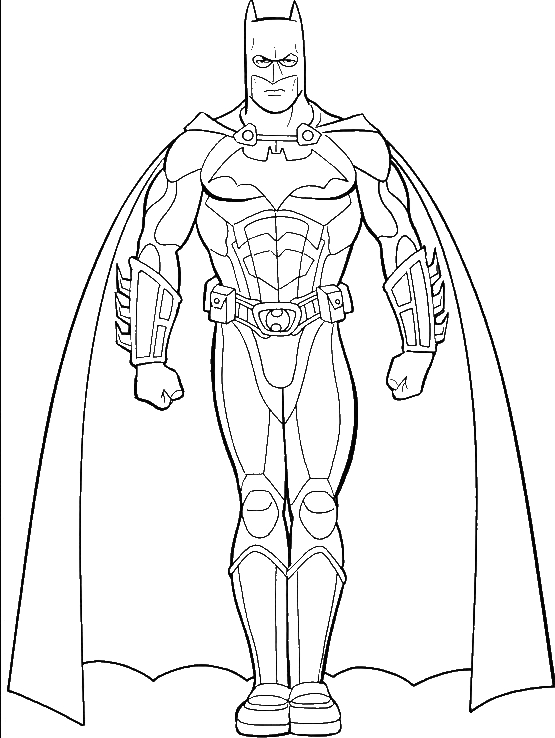Pictures Of Batman Coloring For Kids - Super Hero Coloring Pages ...