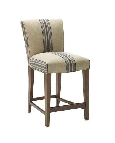 Upholstered Counter Chairs Bedroom Wardrobe Chair Valet Fitzgerald Stool Rustic Yacht Stripe Williams Sonoma