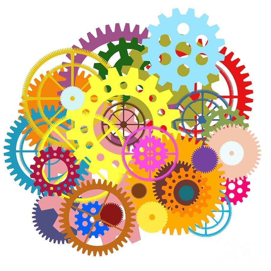 Gears Wheels Design Painting - Gears Wheels Design Fine ...