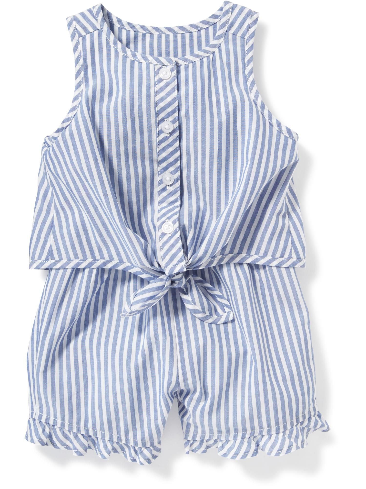 5c81ae3586dad Striped Tie-Front Romper for Baby | Old Navy | | Littles | | Preppy ...