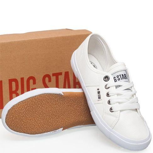 Trampki Tenisowki Damskie Big Star Skora Ekologiczna Biale V274544 Sklep Blancz Pl Sneakers Superga Sneaker Shoes