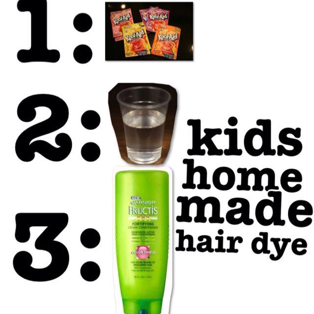 kids hair dye kool aid.yupp