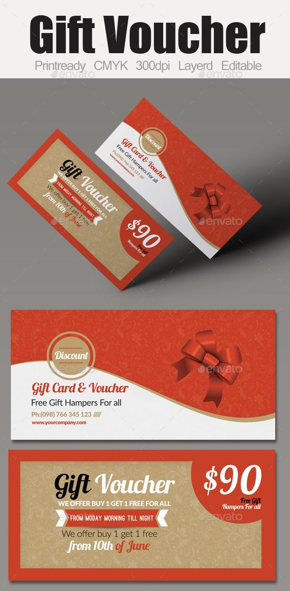 Multi Use Business Gift Voucher | Business, Print templates and ...