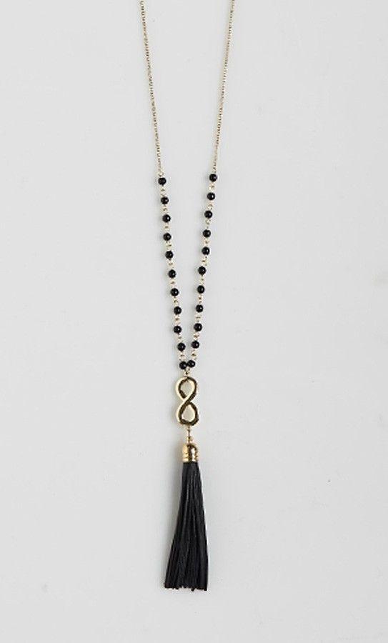 ba4452120784 Collar cadena con borla
