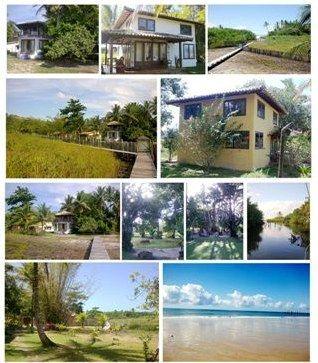 ÁREA 33.914M2 - Excelente área com 4 casas construídas na Praia do Rio da Barra.
