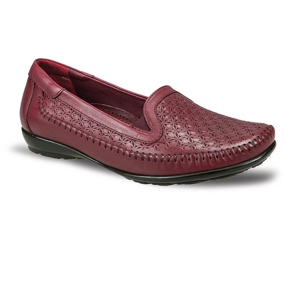 Ceyo Burgundy Leather Casual Women Shoe | zapatos | Shoes