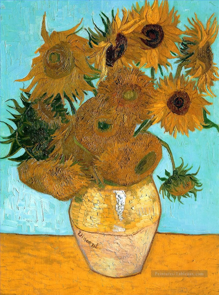 Nature morte Vase with Twelve Tournesols Vincent van Gogh Peinture à  l'huile en Vente | Tournesol van gogh, Tournesols, Van gogh