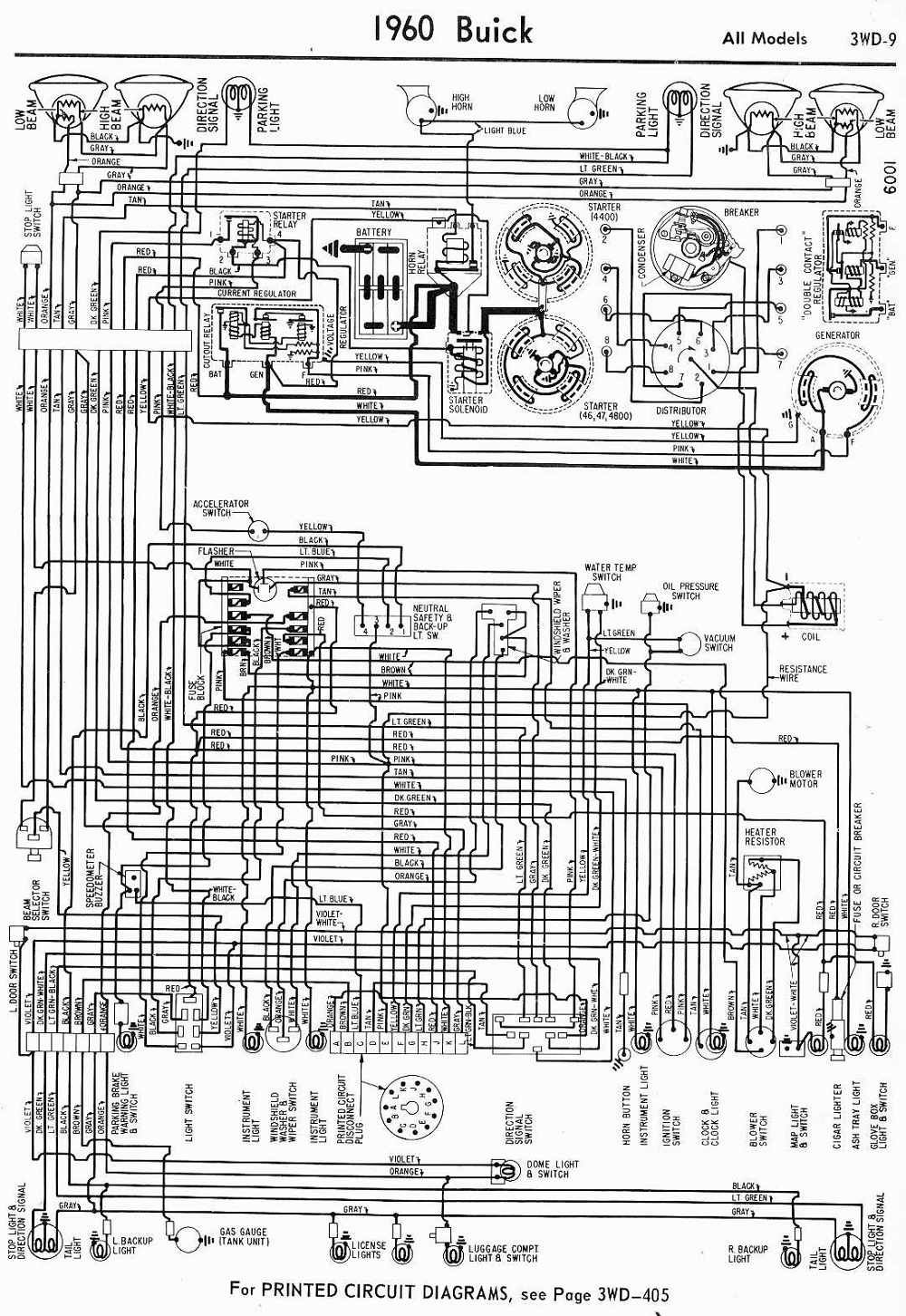 Wiring Diagrams Of 1960 Buick All Models Classic Chevrolet Diagram Chevrolet