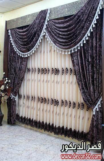 موديلات ستائر كلاسيك بشكل حديث Curtains Splendor Classic Curtain Designs Wall Decor Bedroom Curtains
