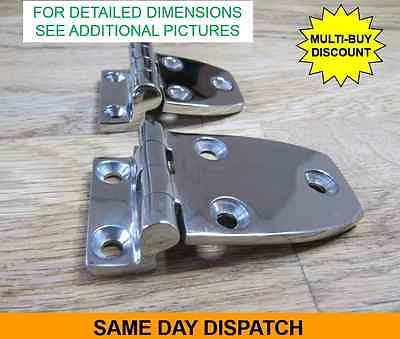 Details about Offset Stainless Steel Hinge, Marine Grade