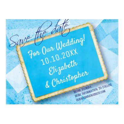Modern Vintage Wedding Engagement Save The Date Postcard  Modern