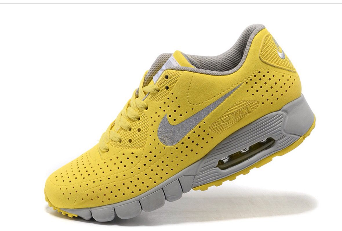 Cheap Original Nike Air Max 90 Current Moire Mens Yellow And Silver Sneaker  Deals Store