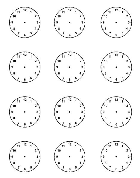 Insane image with regard to blank clock printable