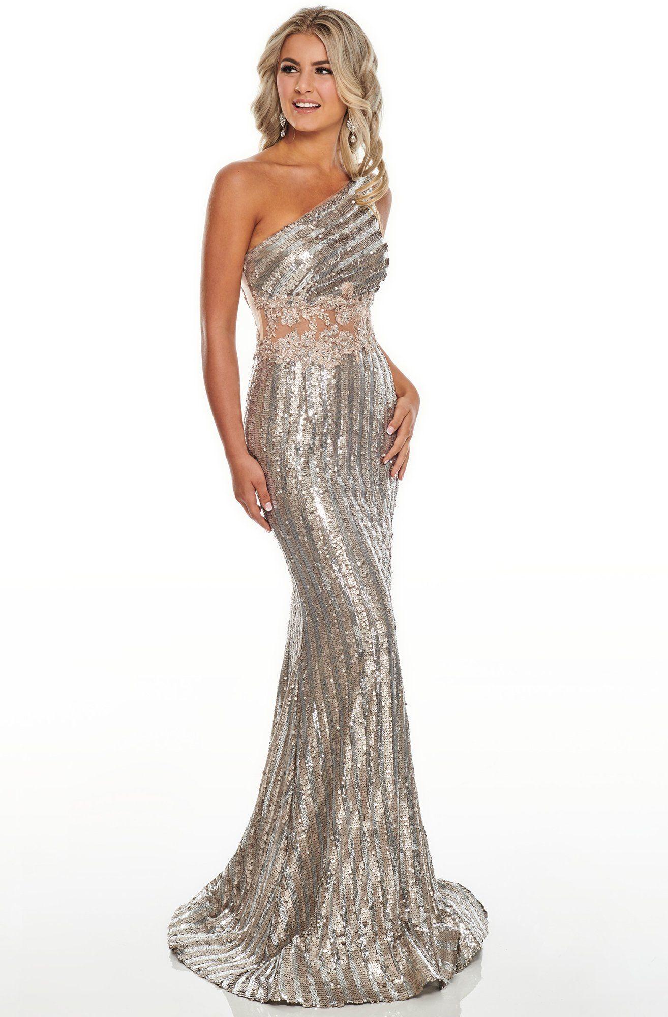 Rachel Allan Prom 7121 Asymmetrical Sequined Trumpet Dress Rachel Allan Dresses Dresses Rachel Allan Prom Dresses [ 2000 x 1314 Pixel ]
