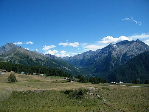 Sestriere giro di Monte Rotta 16 - Splendido panorama alpino dal sentiero di MonteRotta. Sestriere (To)