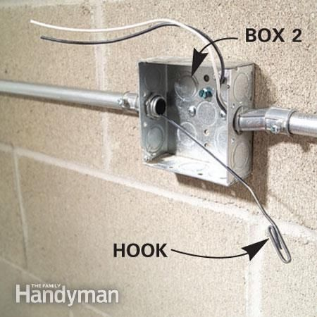 how to install surface mounted wiring and conduit electrical rh pinterest ca Garage Wiring Basics Garage Electric Wiring Examples