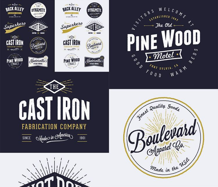 10 Free Vintage Logo Badge Template Collections