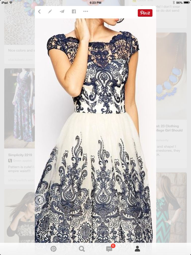 Beautiful dress such great lace design look of the day