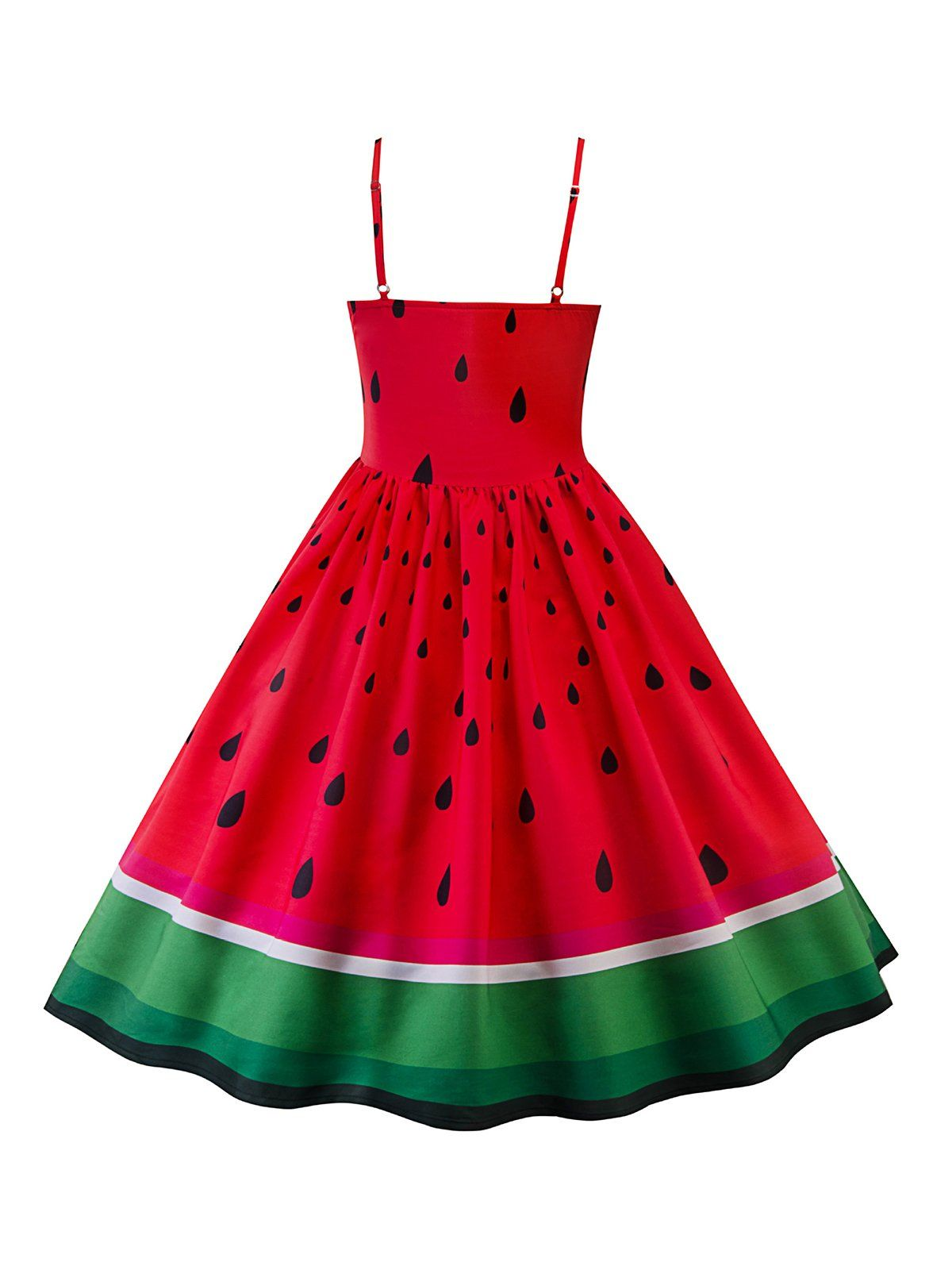 c9172df987d Red 1950s Watermelon Patchwork Dress – Retro Stage - Chic Vintage Dresses  and Accessories
