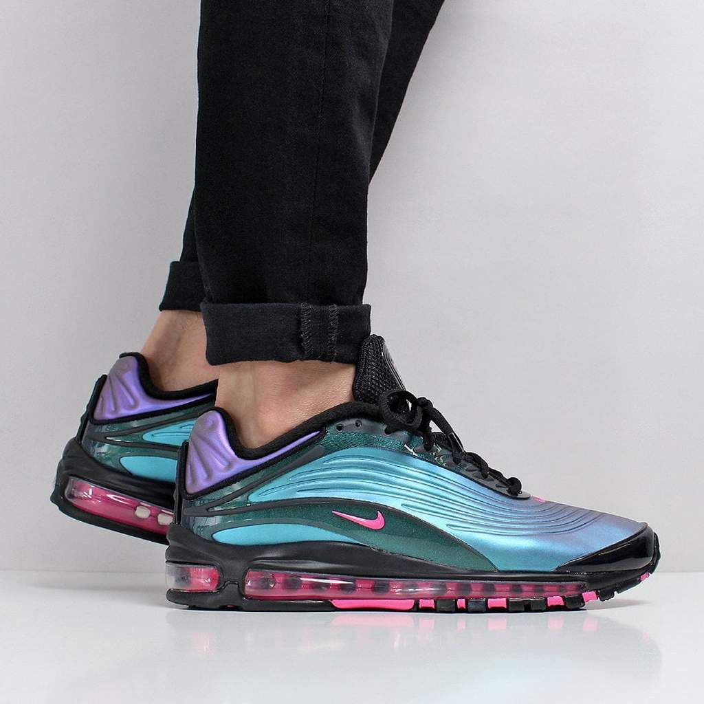 Nike Air Max Deluxe Shoes BlackLaser FuchsiaRegency