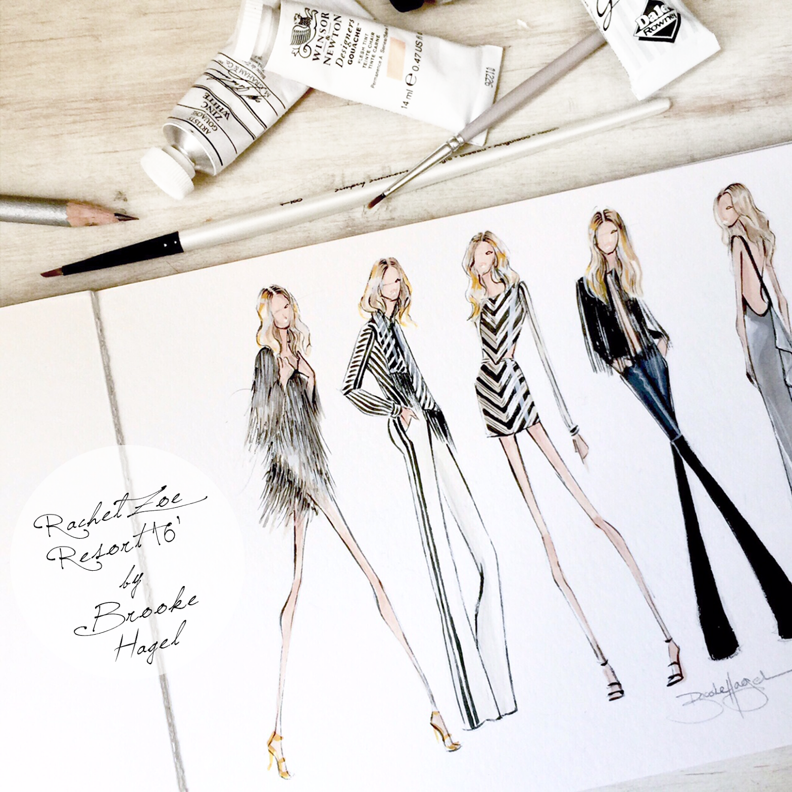 Fashion sketches new fashion sketches - Fashion Illustration Chic Fashion Sketches Brooke Hagel Love One Simple Fashion Illustration For On The Wall