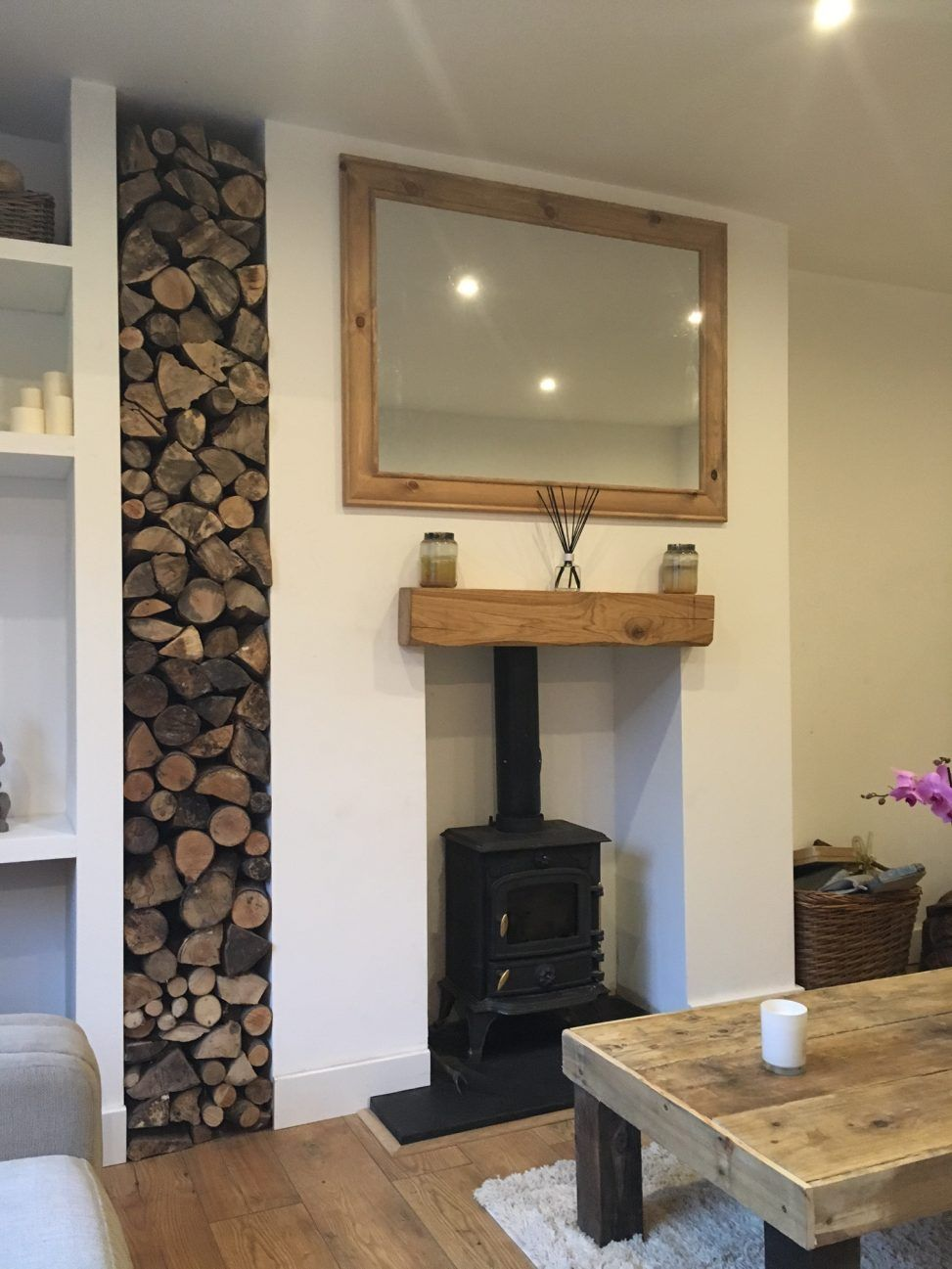 Stacked Logs Next To Wood Burning Stove With Images Wood