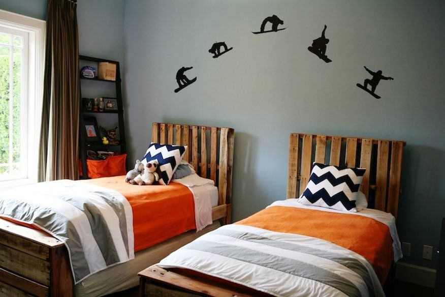 Boys Bedroom from Pallets | Pallet landscaping ideas, Bed ... on Pallet Bedroom Design  id=11463