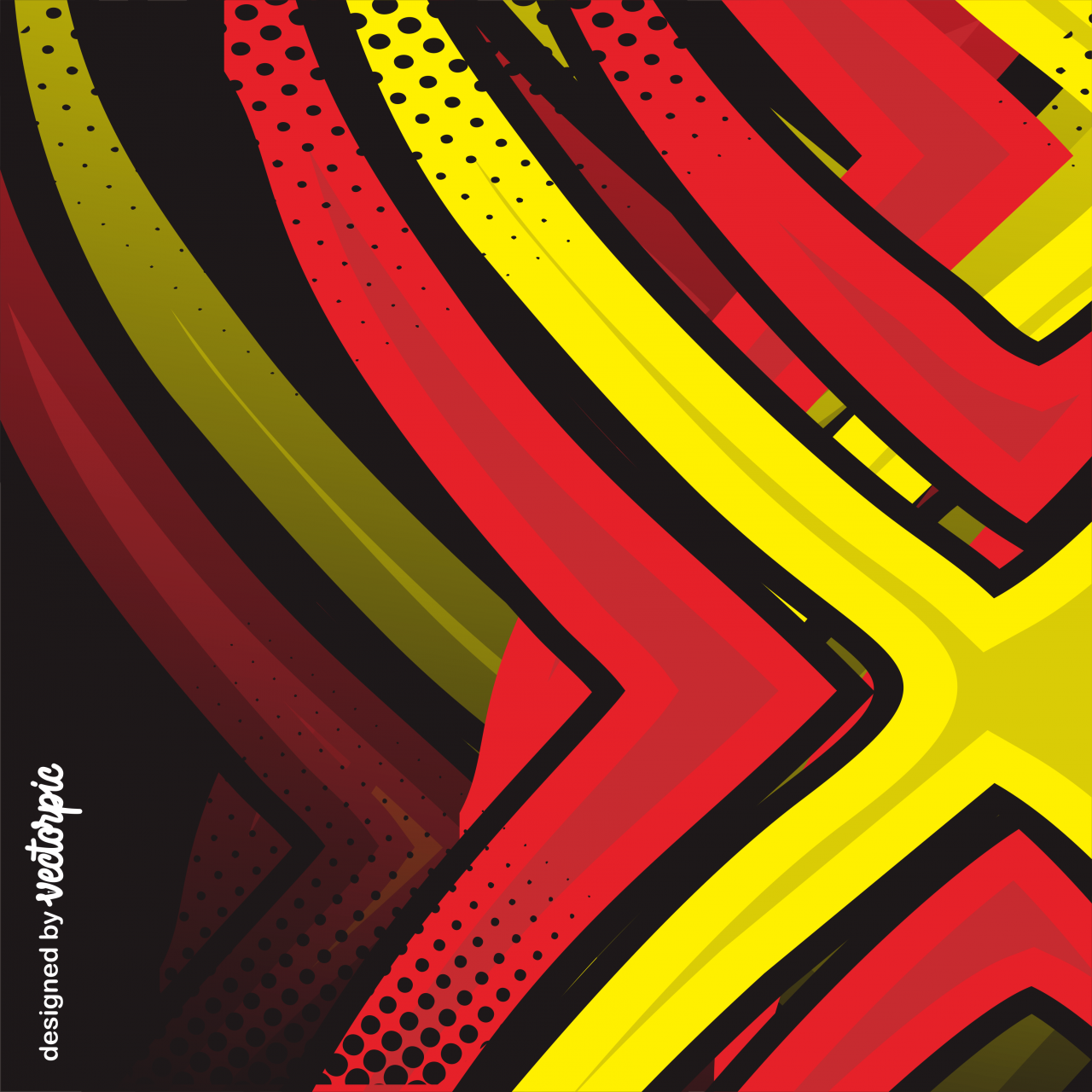 Racing Stripes Abstract Line Red Yellow Background Free