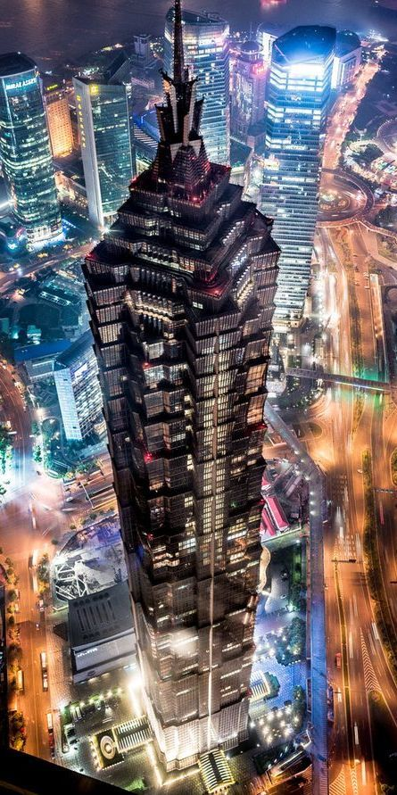 Jin Mao Tower Grand Hyatt Hotel Shanghai China By Skidmore