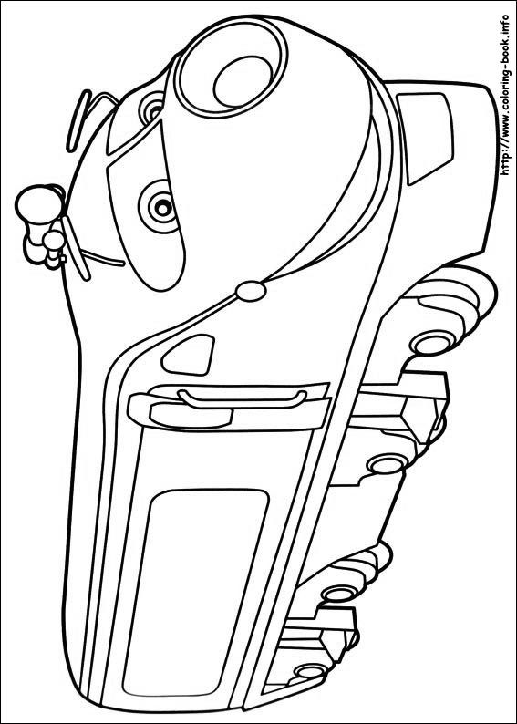 chuggington coloring picture - Chuggington Wilson Coloring Pages