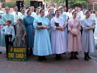 mennonite women at an