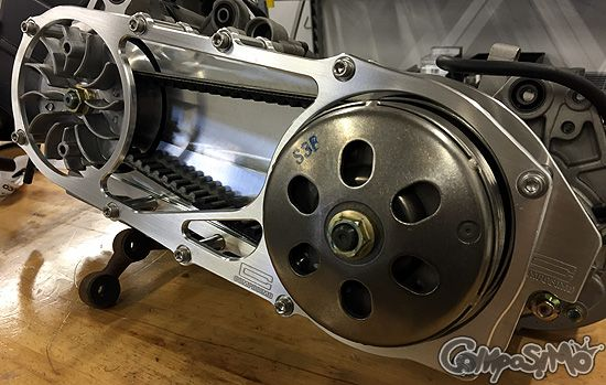 GY6 Billet Aluminum Open CVT Drive Cover | 50 cc tuning | Bike
