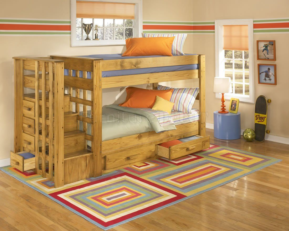 wood bunk bed with stairs cool bunk beds with stairs bunk bed with