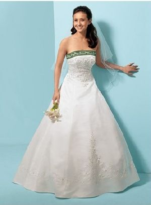 off white green sash wedding dress | wedding az II | Pinterest ...