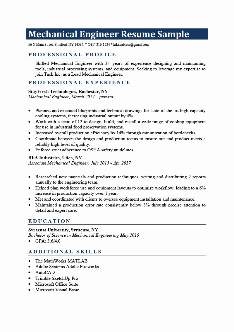 23 Engineering Resume Examples for Students in 2020 (With