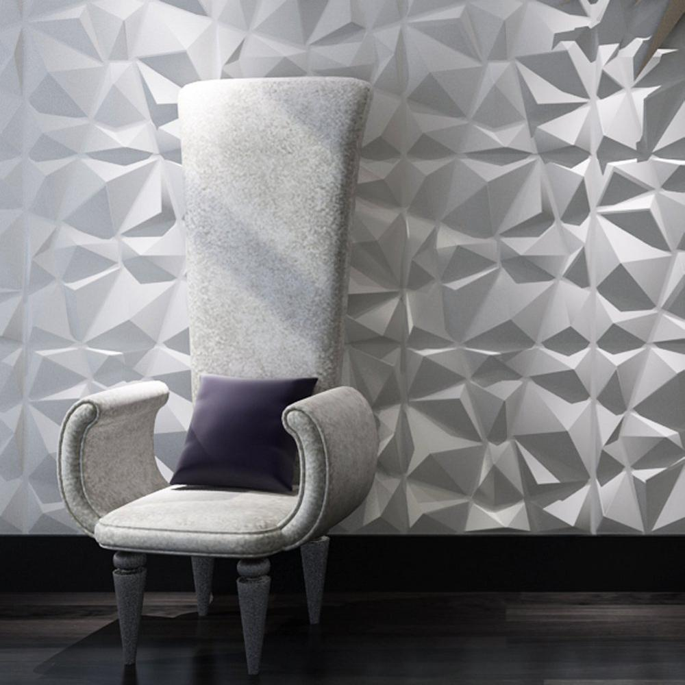 Art3d 19 7 In X 19 7 In White Decorative Pvc 3d Wall Panels In Diamond Design 12 Pack A10038 The Home In 2020 Textured Wall Panels 3d Wall Panels Pvc Wall Panels