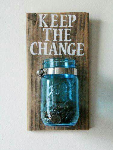 To put all the loose change that your hubby always leaves in his pockets, love it!