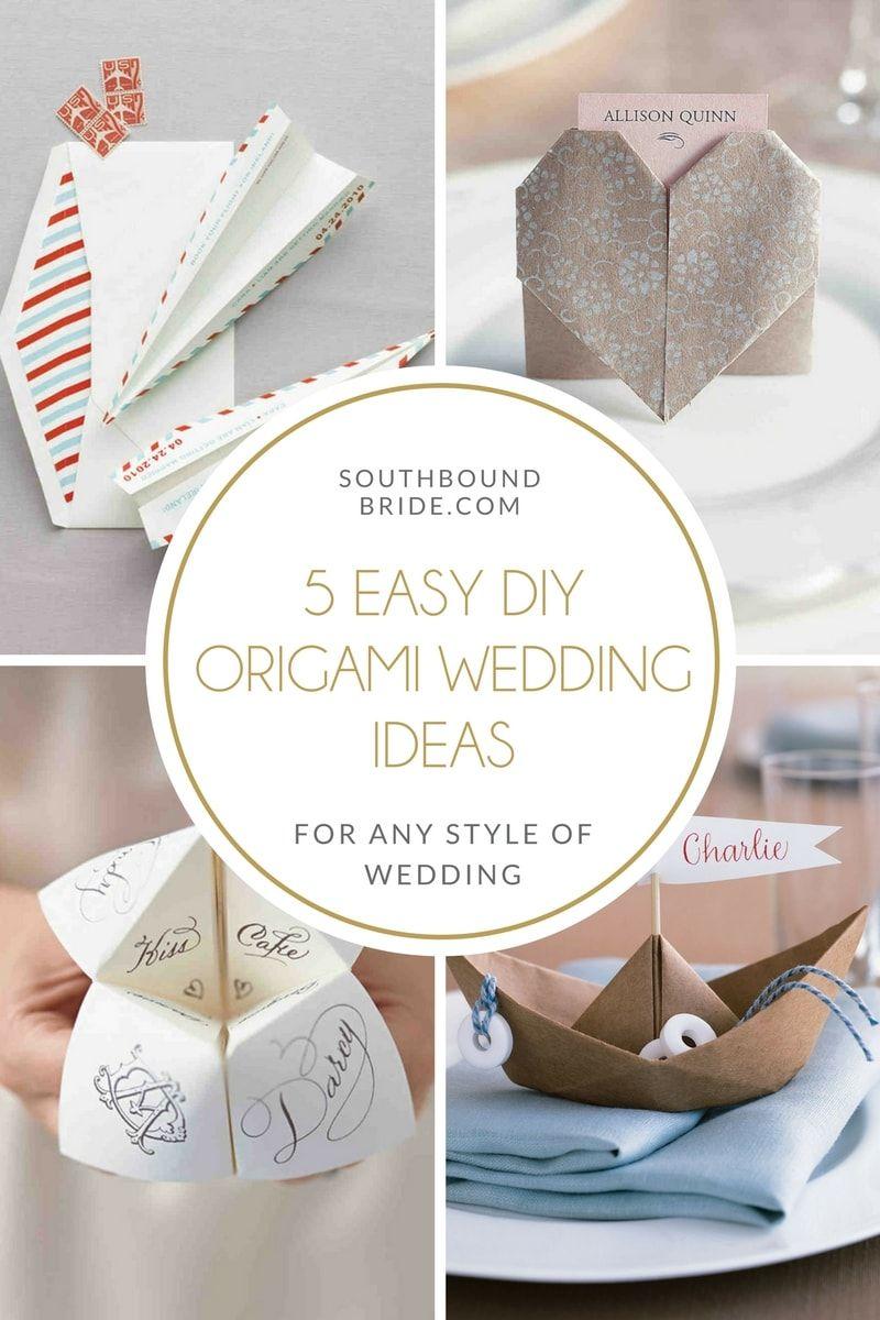 5 Easy DIY Origami Wedding Ideas | Diy origami, Creative wedding ...
