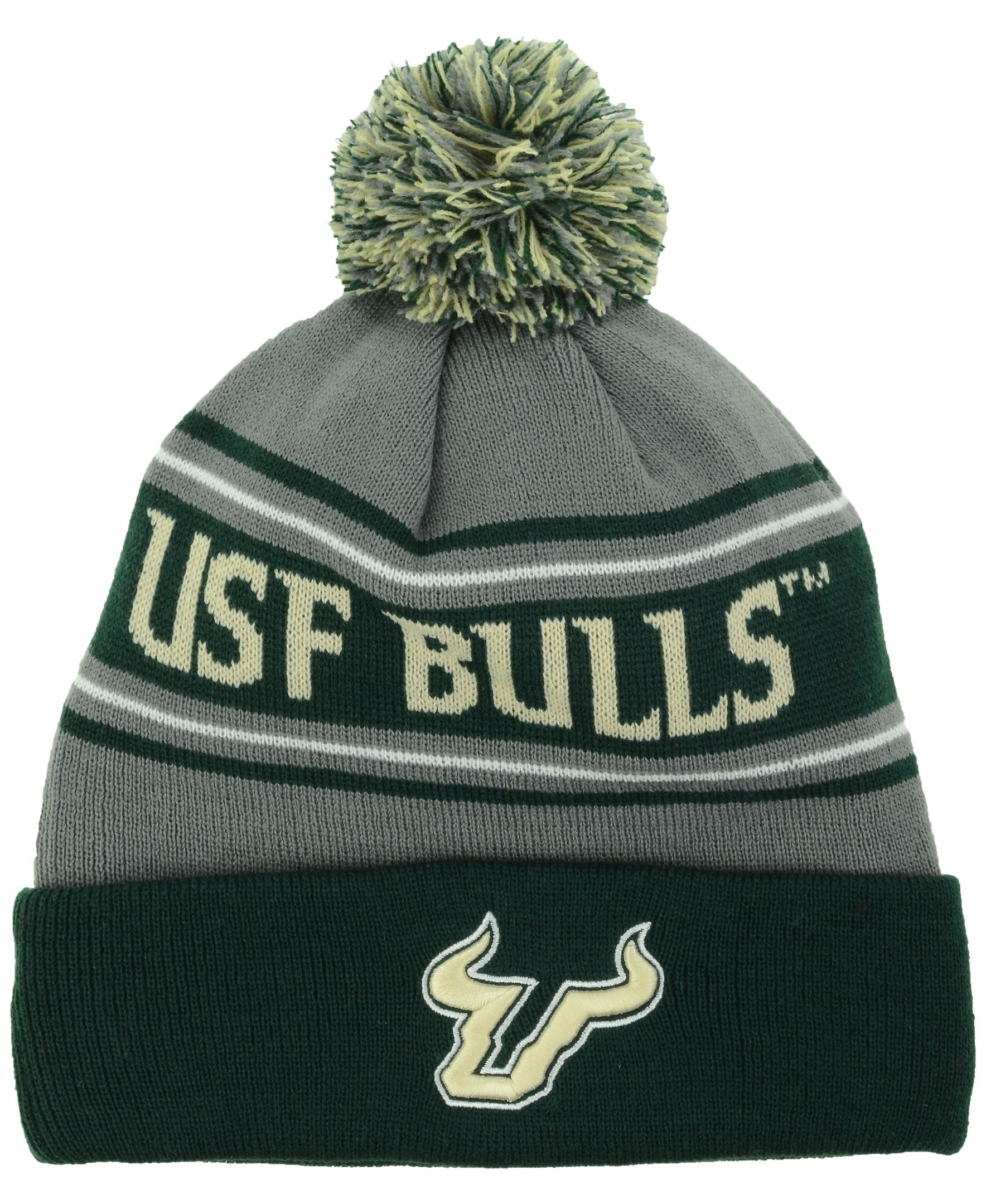 f15aa4cb1761f8 Top of the World South Florida Bulls Charcoal Ambient Pom Knit Hat ...