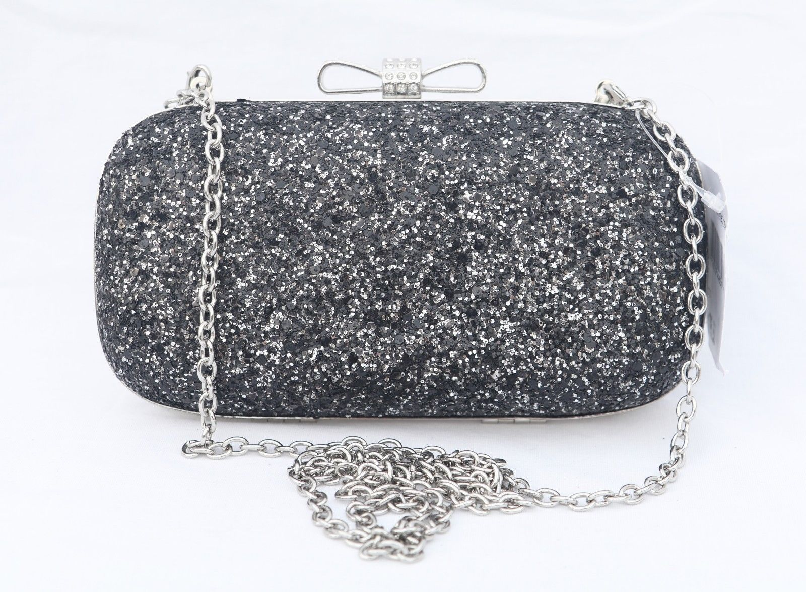 2fc229c5a41 18.00 | INC International Concepts Evie Black Silver Glitter Clutch Evening  Bag ❤ #international #concepts #silver #glitter #clutch #evening #Outfits  ...