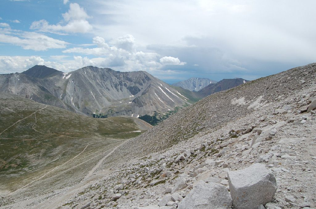 On top of Mount Antero 14,000 feet high!  You can hunt for aquamarines and smoky quartz here.