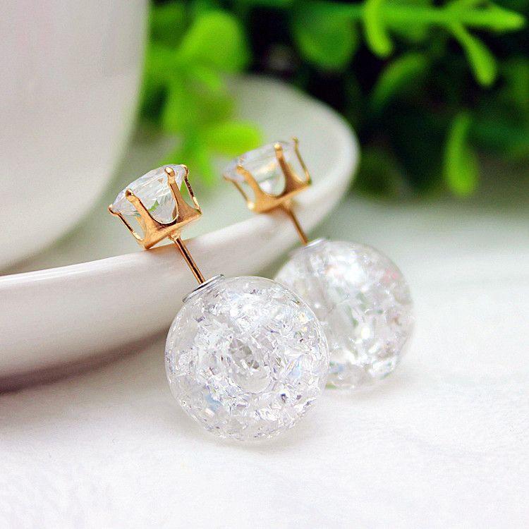 New design de moda marca de jóias double side pérola brincos para mulheres doces cores contas brincos declaração de presente de natal em Brinco de brilhante de Jóias no AliExpress.com | Alibaba Group