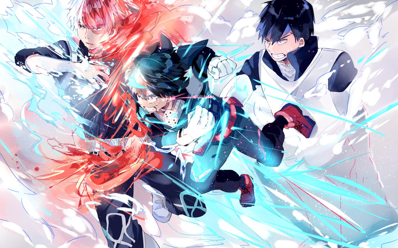 Download 1440x900 Boku No Hero Academia Todoroki Shouto Midoriya Anime Wallpaper My Hero Academia My Hero
