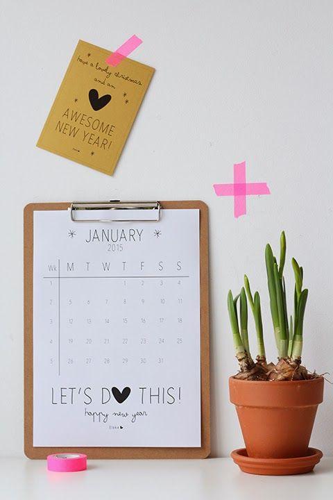 2015 free printable calendar diy pinterest for Wohnungseinrichtung planer
