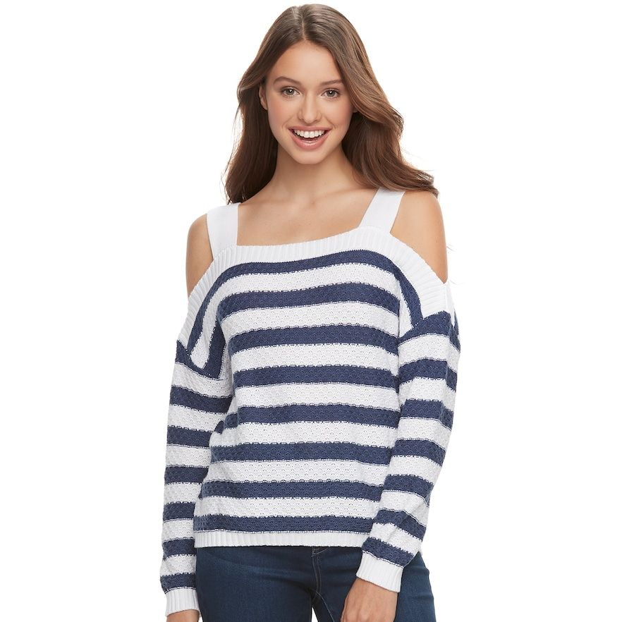 a24d63680 Juniors' SO® Cold-Shoulder Long Sleeve Top   Products   Long sleeve ...