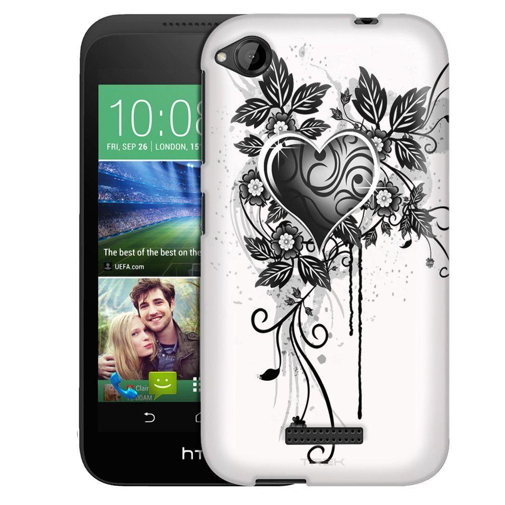 HTC Desire 320 Highlighted Heart on White Slim Case