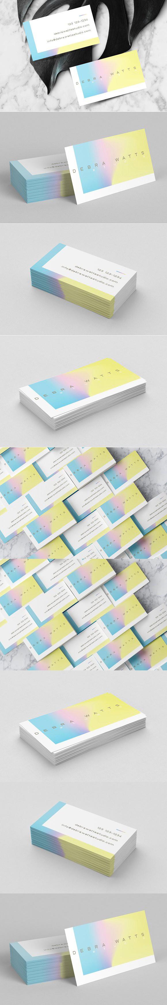 feminine holographic business card