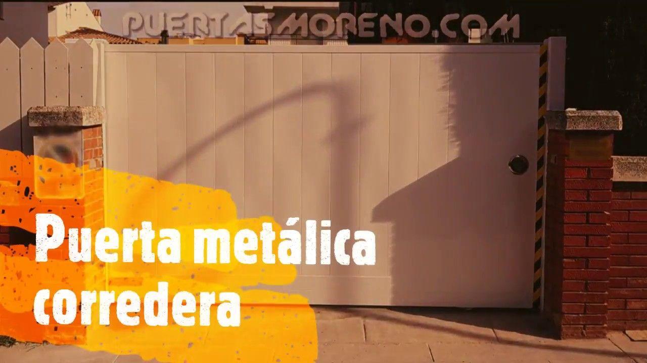 CORREDERA METÁLICA EN UNA HOJA (PROYECTO 17) Puerta metálica ...